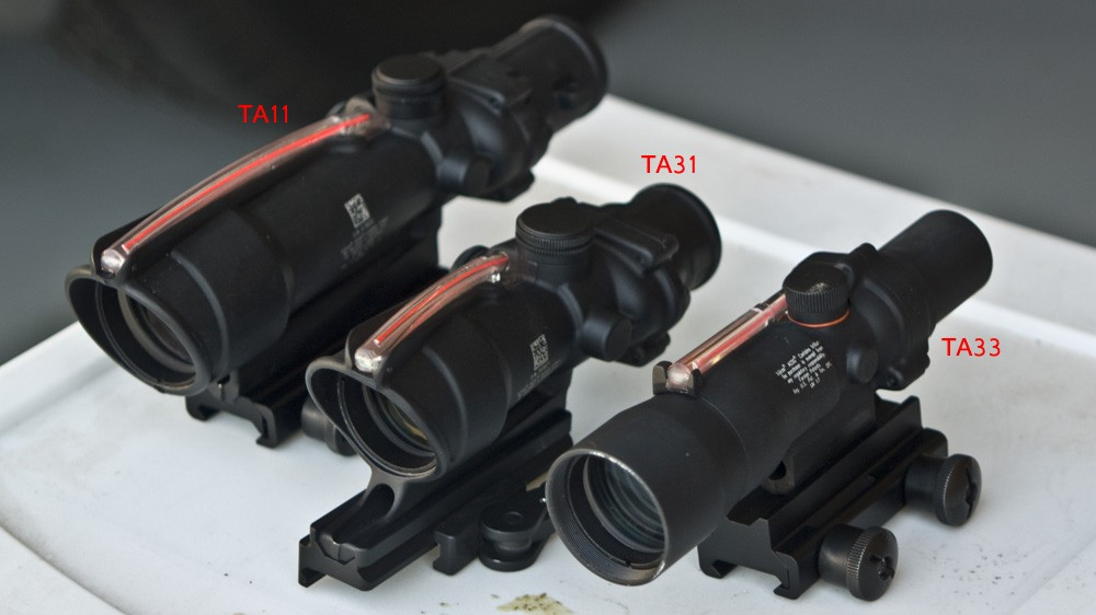 Trijicon ACOG Comparison: TA11 vs TA31 vs TA33